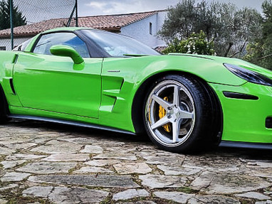 Acid Green C6 Corvette Widebody Kit.