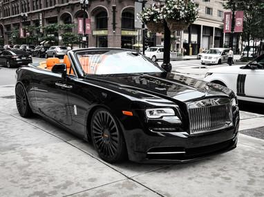 Black Rolls Royce Dawn Custom Wheels.