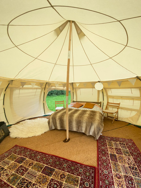 Inside our luxury bell tents
