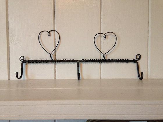 2-heart triple hooks