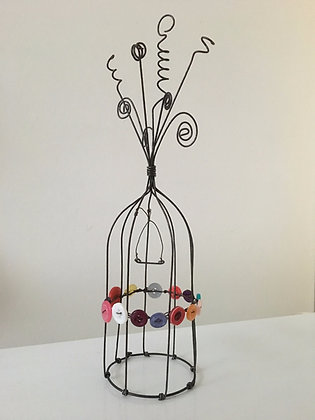 decorative bird cage (buttons)