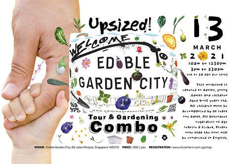 Upsized! Edible Garden City Tour and Gardening Combo (13.03.21)