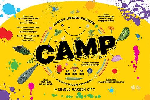 CAMP Junior Urban Farmer DECEMBER Holiday Programme (08 to 10.12.20)