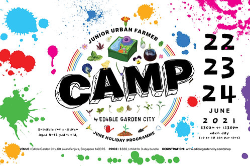 CAMP Junior Urban Farmer JUNE Holiday Programme