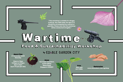 Wartime Food & Sustainability Workshop (21.11.20)