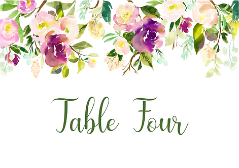 A5 Table Name / Number