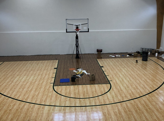 Painting the court lines