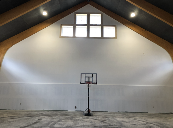 basketball court all painted