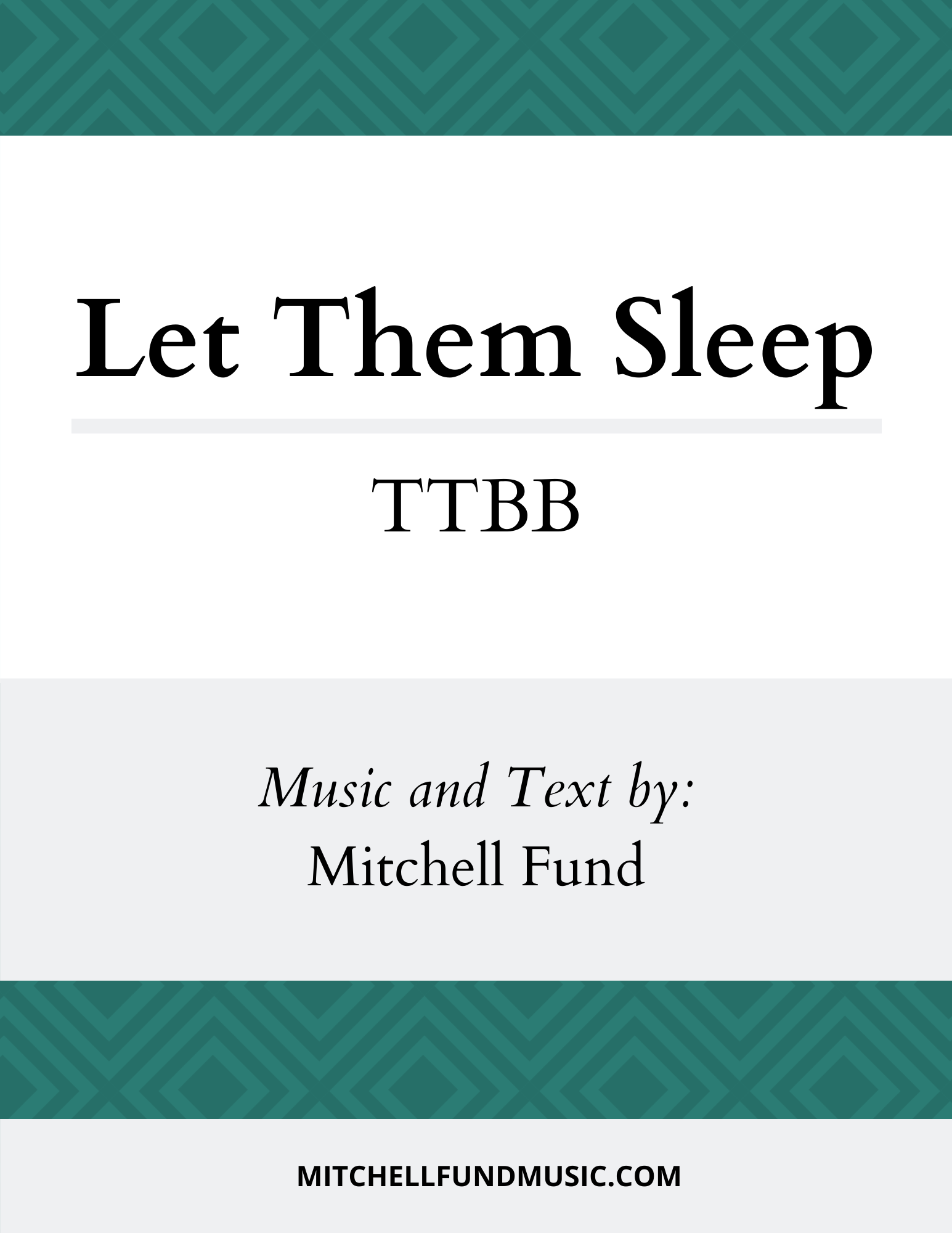 Let Them Sleep cover (TTBB)