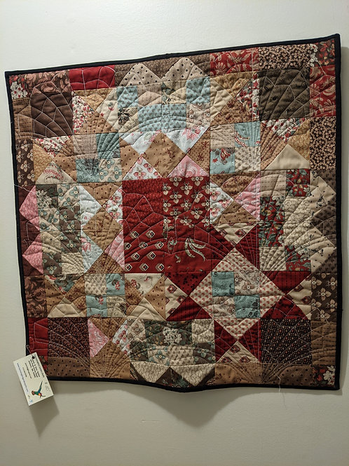 traditional quilted wall hanging