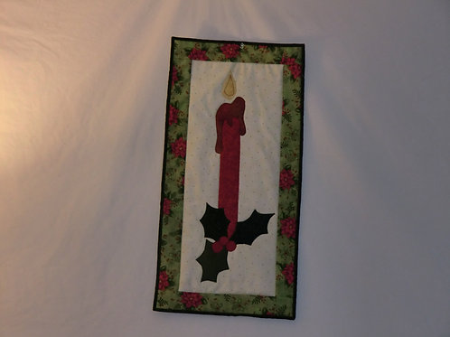 Christmas candle wallhanging