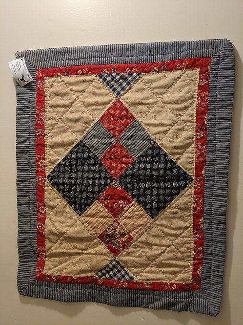 traditional handquilted wall hanging