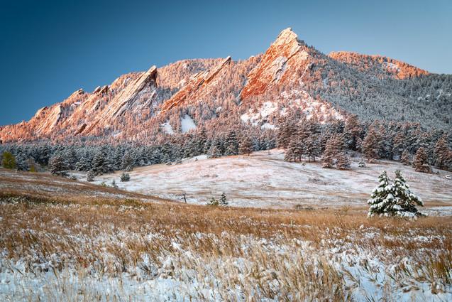 Snowy Flatiron Sunrise