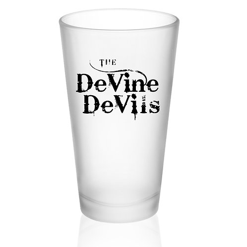 DeVine Devils Frosted Pint Glass