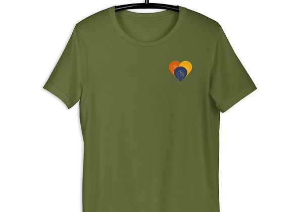 The End of Structural Racism Short-Sleeve Unisex T-Shirt in Khaki