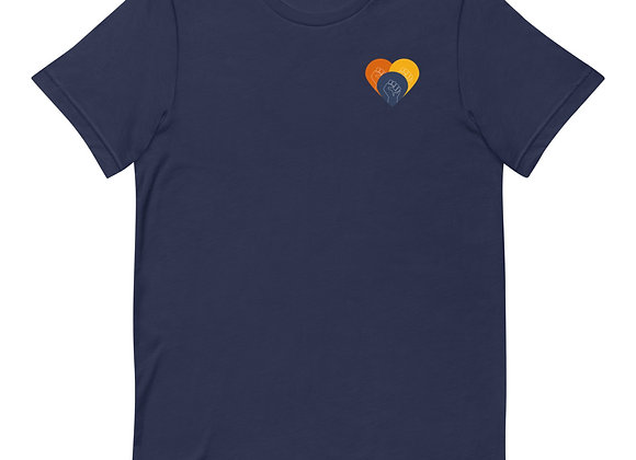 The End of Structural Racism Short-Sleeve Unisex T-Shirt in Navy