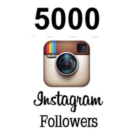 5,000 Instagram followers Best service