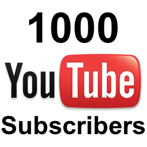 1,000 Youtube subscribers DISCOUNTED