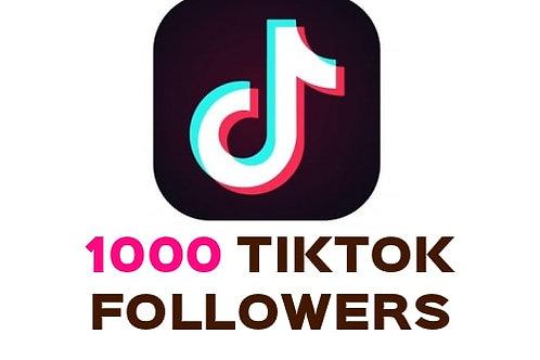 1,000 Tik tok followers