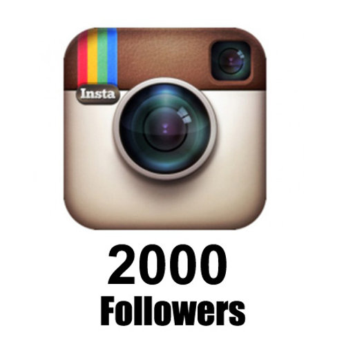 2,000 Instagram followers. (Discounted price)