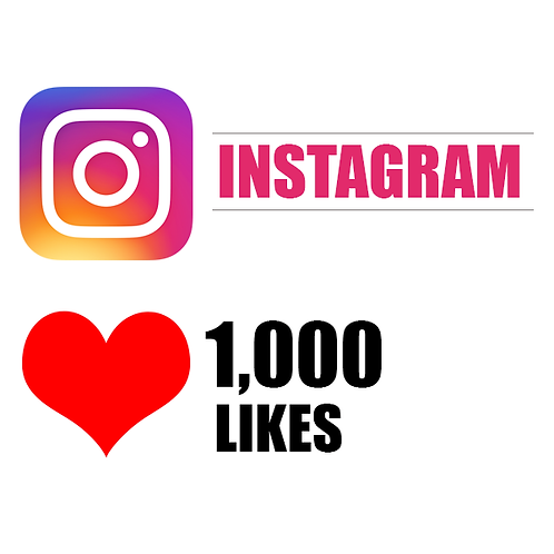 1,000 REAL instagram likes INSTANT