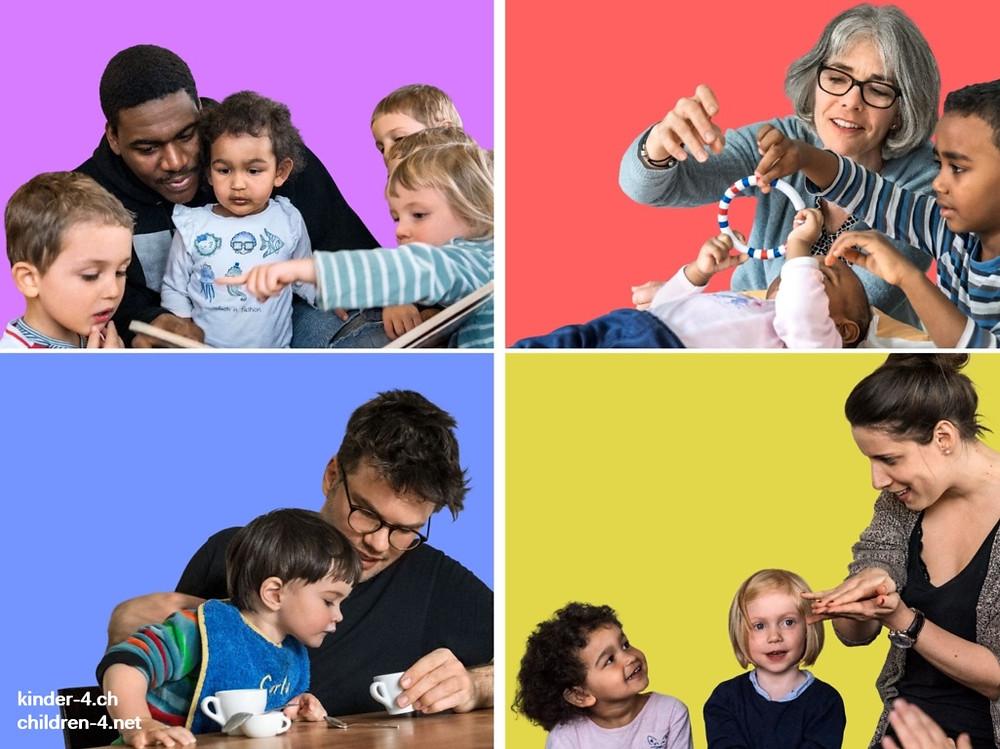 Lerngelegenheiten für Kinder bis 4