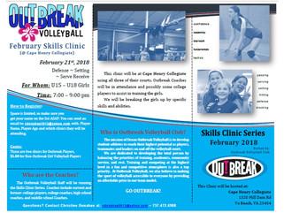Feb Skills Clinic Date Set