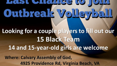 15 Black Last Chance Tryout