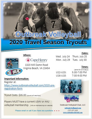 Tryout Dates Set