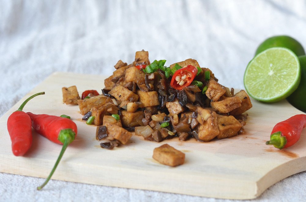 Mushroom Tofu Sisig Vegan Gluten-free