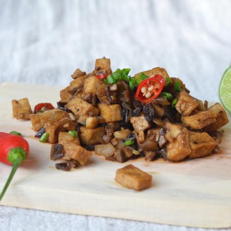 Mushroom & Tofu Sisig