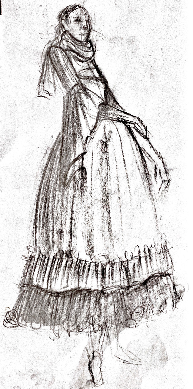 Live Sketches (Clothed Female) - A Series