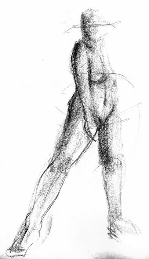 Live Sketch - Nude Female