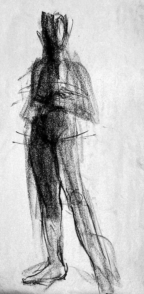 Live Sketch - Nude Female