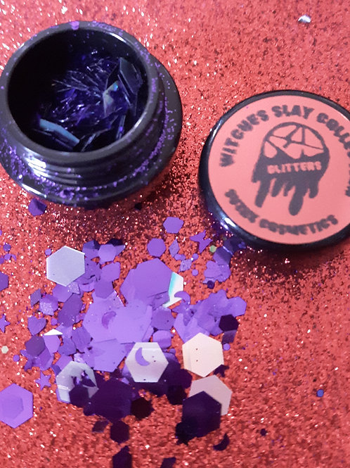 witches slay collection (purple)chunky glitter