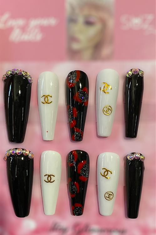 Black Night Inspired nails