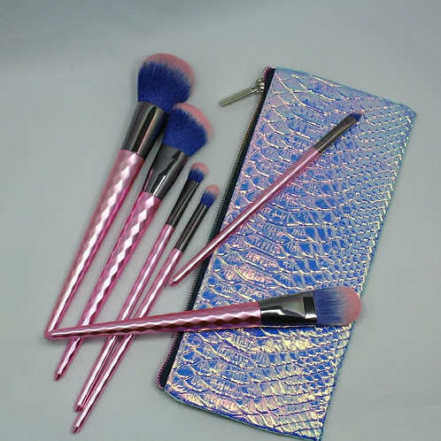 Metallic Pink-6 Pc Brush Set