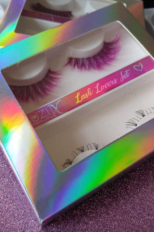 Gothika Pink lash Set