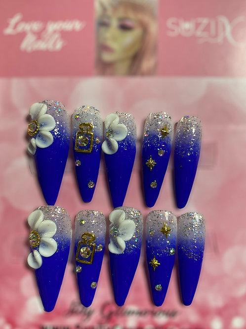 Blue Glittery Sparkle