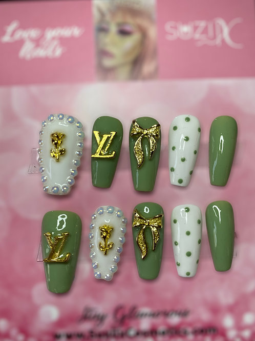 Beautiful in Green inspired nails