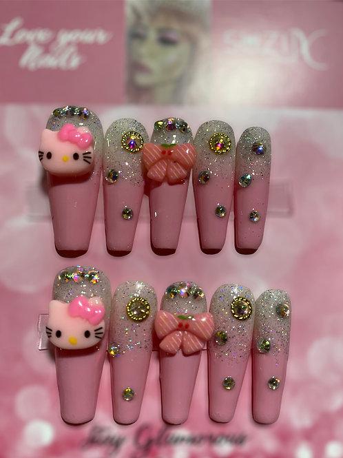 Light Pink& Glitter Hello Kitty