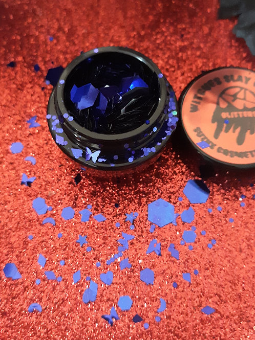 witches slay collection ( blue)chunky glitter