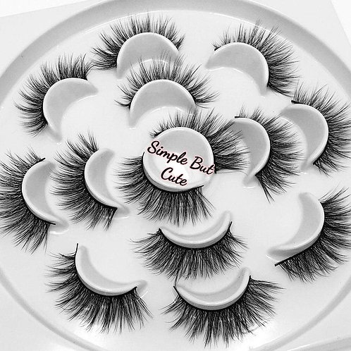 """Simple But Cute"" Flower lash set"