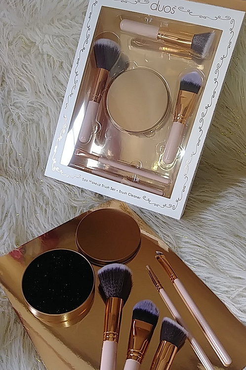 5pc Makeup Brush + Large Brush cleanser