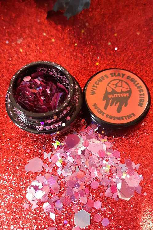witches slay collection (Hot Dark pink)chunky glitter