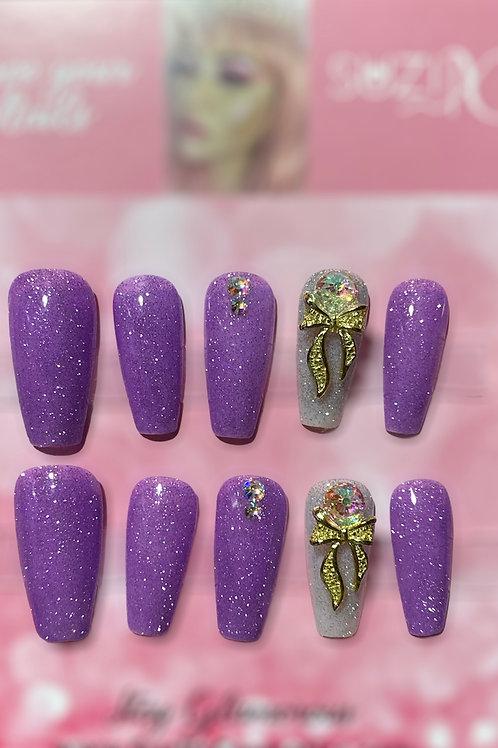 Purple Glitter Splash