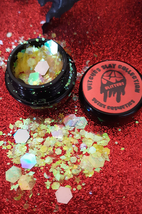 witches slay collection ( neon yellow)chunky glitter
