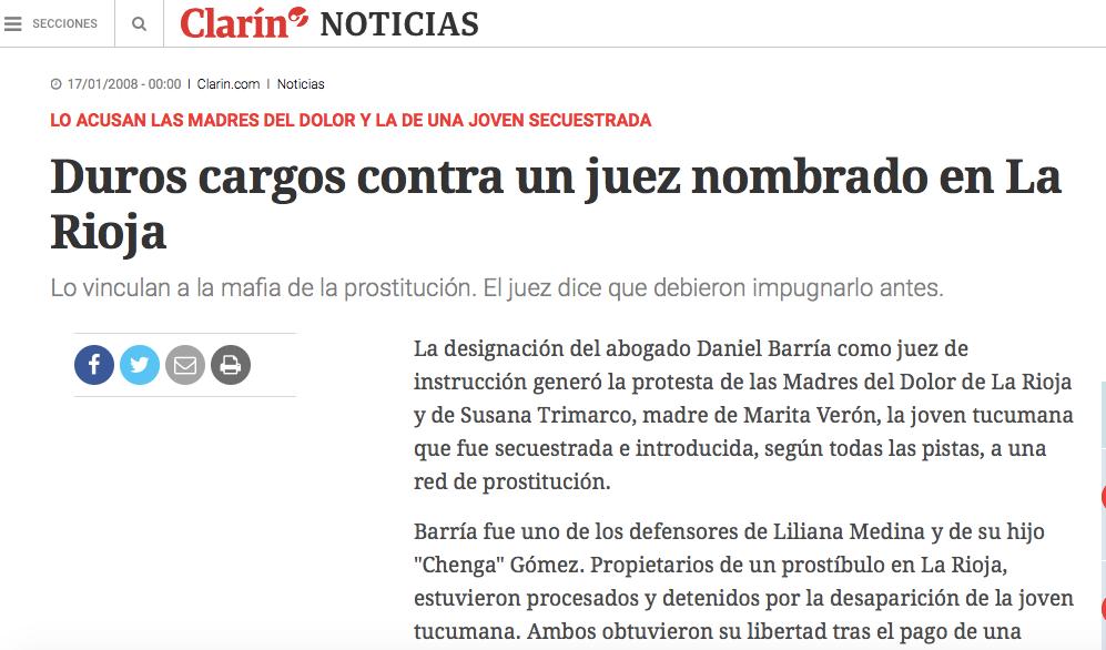 Fuente : La Gaceta y Clarín