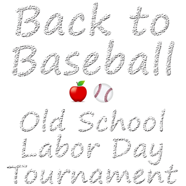 Back to Baseball Tournament chalk writin