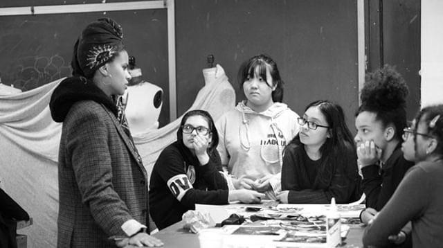 Zazie Beetz at The High School of Fashion Industries